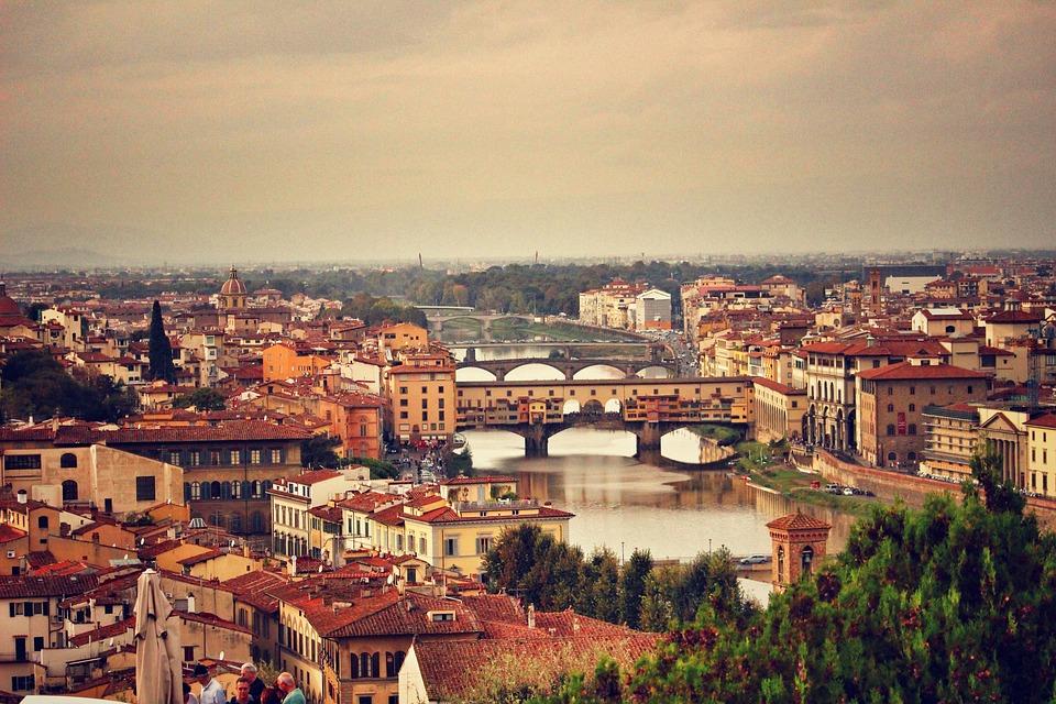 Panorama di Firenze con Ponte Vecchio