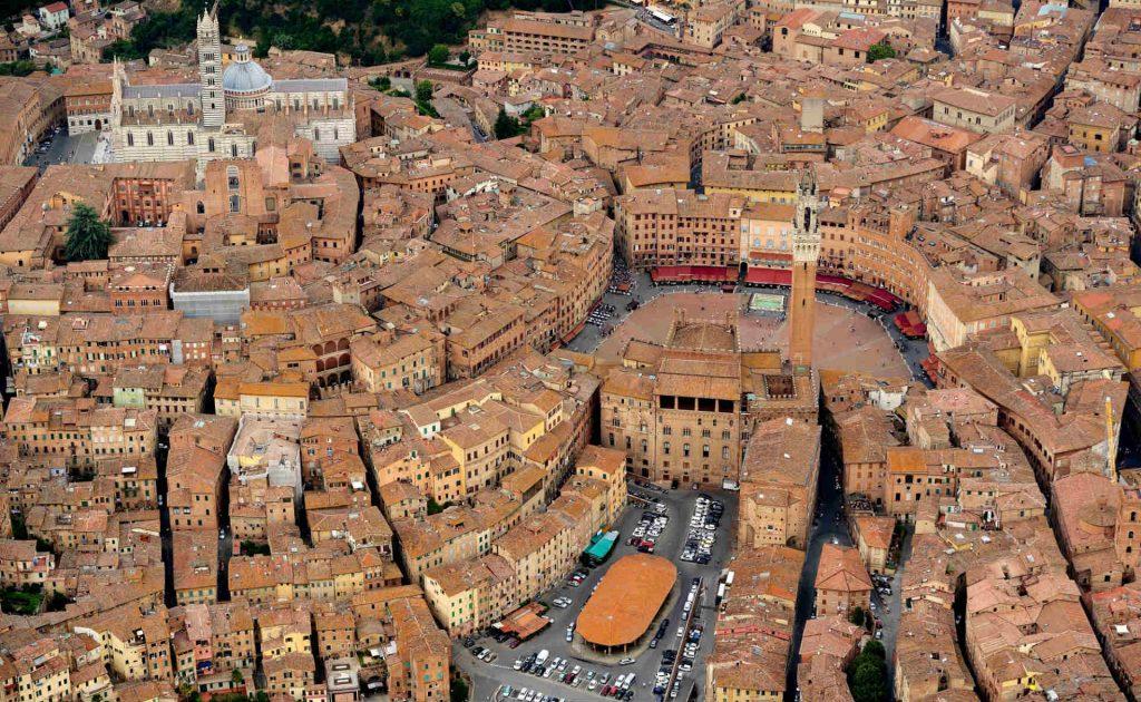 Siena, veduta aerea